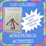Los Colores - Sopa de Letras - Make your own word search