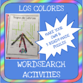 Los Colores - Sopa de Letras - Make your own word search