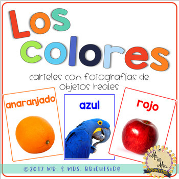 Los Colores - Spanish Color Posters