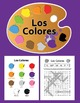 Spanish Colors Bundle: Los Colores Posters, Worksheets, Flash Cards, Memory Game