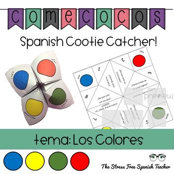 Los Colores Spanish Colors Fortune Teller Cootie Catcher Speaking Activity