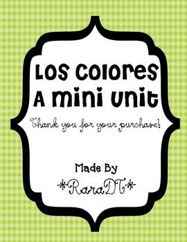 Los Colores- Spanish Colors Mini Unit