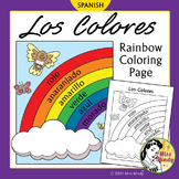 Los Colores Spanish Colors Rainbow Coloring Page