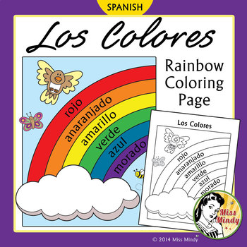 rainbow in spanish coloring pages - photo#8