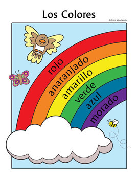colors in spanish coloring pages - photo#34