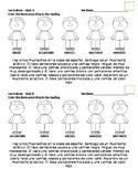 Los Colores Spanish Quiz / Reading Assignment