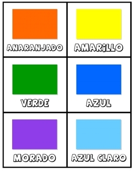 Los Colores:  Spanish colors activity set