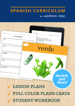 Los Colores -1 Week of Lesson Plans with Flash Cards