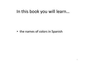 Los Colores - easy reader for young and novice learners