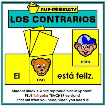 Los Contrarios: Flip Booklets Opposites in Spanish