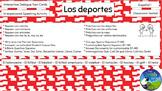 Los Deportes - Interpersonal Dialogue 48 Interactive Task Cards  - Spanish 1