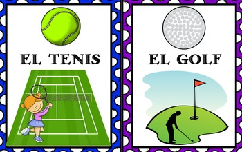 Los Deportes- 8.5x11 Posters / Visuals / Bulletin Board Idea