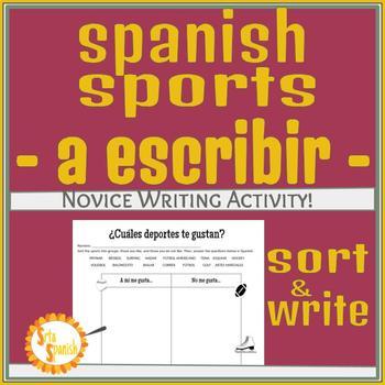 Los Deportes A Escribir Activity