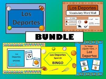 Los Deportes BUNDLE- Spanish Sports Vocabulary