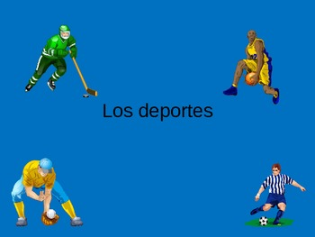 Los Deportes Powerpoint Spanish Sports Vocabulary