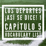 Los Deportes / Sports Vocabulary List, ¡Así se dice! 1, Ca