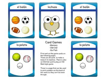 Los Deportes Vocabulary Presentation and Games – Spanish Sports Vocabulary