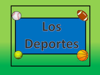 Los Deportes Vocabulary Presentation and Games – Spanish Sports Vocabulary