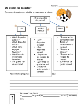 Los Deportes y Pasatiempos -- Sports and Hobbies Speaking