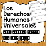 Los Derechos Humanos Universales - with writing prompt for