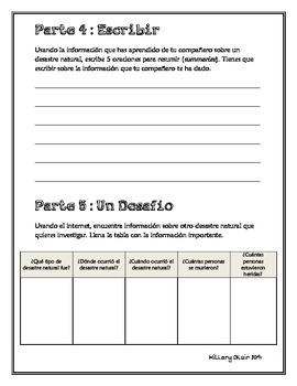 Los Desastres Naturales - Authentic Preterite Speaking, Reading, Writing