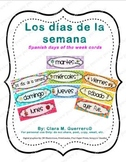 Los Días de la Semana on Colorful Polk-a-Dot Paper and Cute Graphics