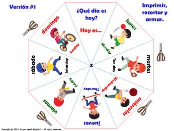 Los Días de la Semana / Days of the week in Spanish