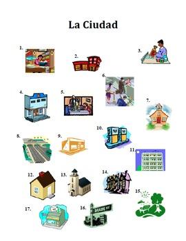 Los Edificios de la Ciudad, Building and City Vocabulary