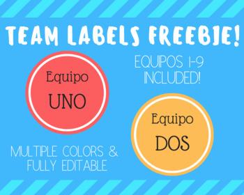 Los Equipos Team Labels