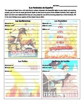 Los Festivales de España- presentation worksheet