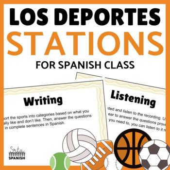 Los Juegos Olímpicos- Station Activities for reviewing Los Deportes