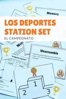 Los Deportes Sports in Spanish Stations and Practice Activities