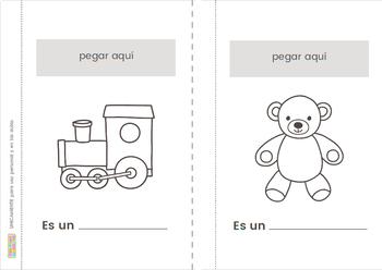 Los Juguetes - Libro de Corte y Pega Ӏ Toys Words in Spanish -Lift the Flap Book
