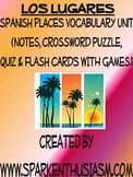 Los Lugares Vocab Lists, Activities, Crossword, Games, & Quiz Unit