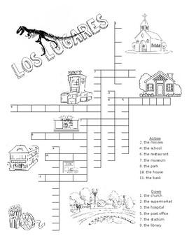 Los Lugares - crossword