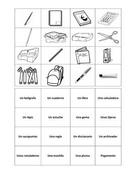 Los Materiales Escolares/ School Supplies