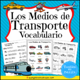 Los Medios de Transporte Vocabulario {Spanish Transportation Vocabulary}