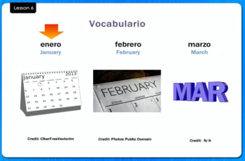 Los Meses - The Months - Video Tutorial