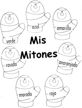 Winter-Los Mitones- The Mitten- Review Colors in Spanish