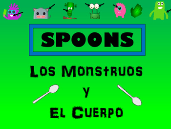 Los Monstruos y El Cuerpo Spoons Card Game -The Body Vocab