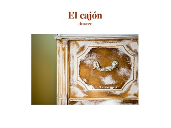 Los Muebles (Furniture and Appliance Vocabulary) PowerPoint