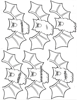 Los Murciélagos- Halloween- Learn Colors in Spanish- Bats K-3
