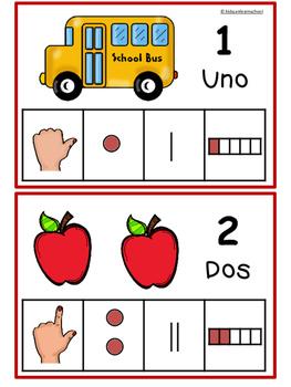 Los Números 1-10-Back to School Edition in Spanish
