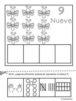 Los Números 1-10-Edicion de Primavera in Spanish