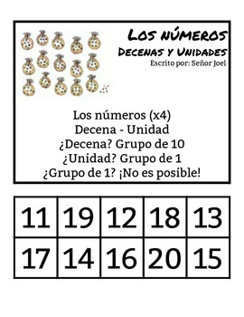 Decenas y Unidades #11-20 (Spanish Immersion Tens and Ones
