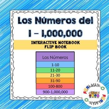 Los Números del 1-1,000,000 Interactive Notebook