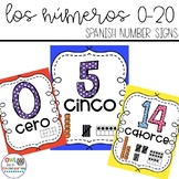 Bright Classroom Numbers 0-20 in Spanish