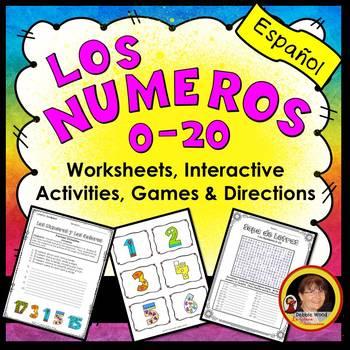 Spanish Numbers Worksheets