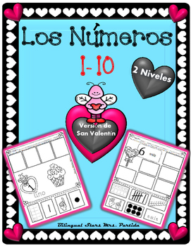 Los Numeros 1-10 numeros San Valentín  Representing number