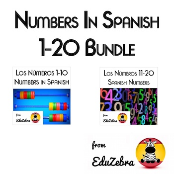 Los Numeros 1-20 - Numbers in Spanish - Bundle
